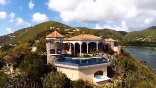 Kaleidoscope Villa Aerial Tour, St. John USVI
