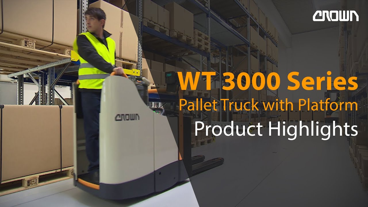 Crown Pallet Truck Wt 3000 Series Product Highlights Youtube