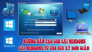 Hướng dẫn tạo USB cài Windows 7,  Windows 8,  Windows 10 từ file ISO