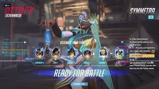 symmetra getting blamed/told to swap for 3 minutes straight