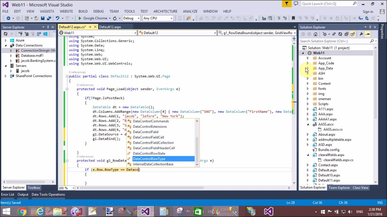Merge Two DataColumn and Display single in ASP NET Gridview