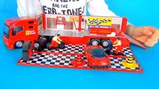 Rinat play with new car ferrari