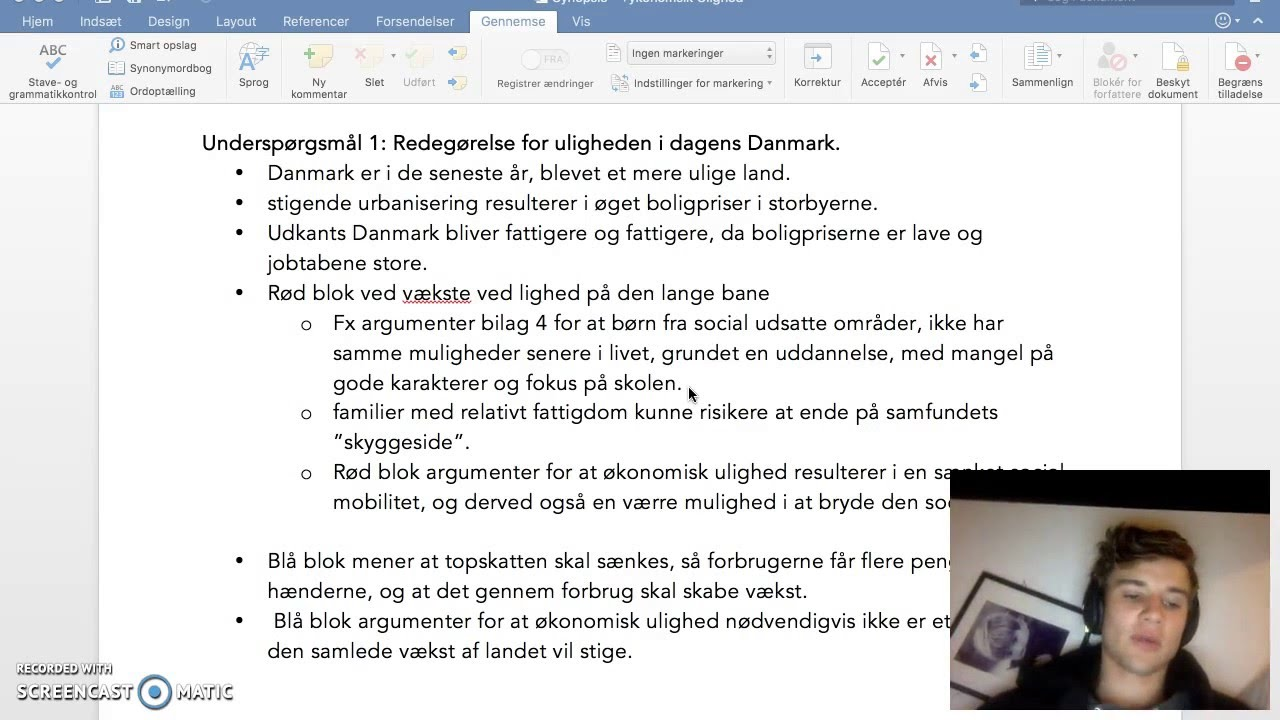 Synopsis: Ulighed i Danmark