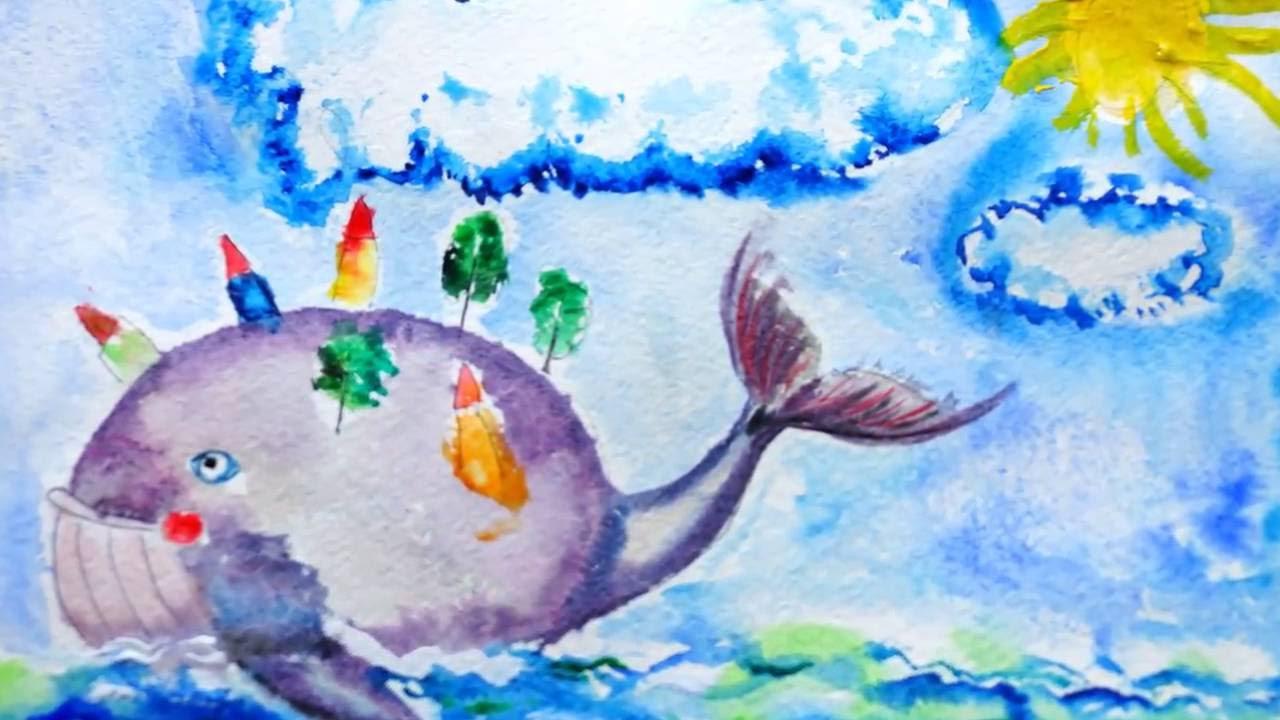 картинки для детей рыба-кит