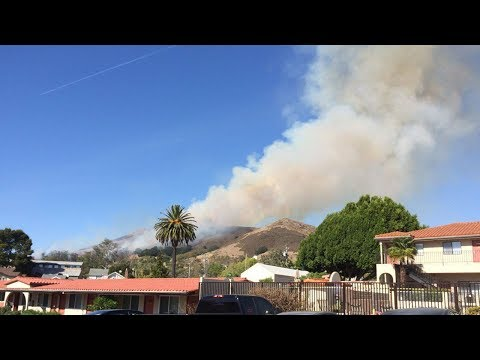 LIVE: Fire burning near Cal Poly dorms