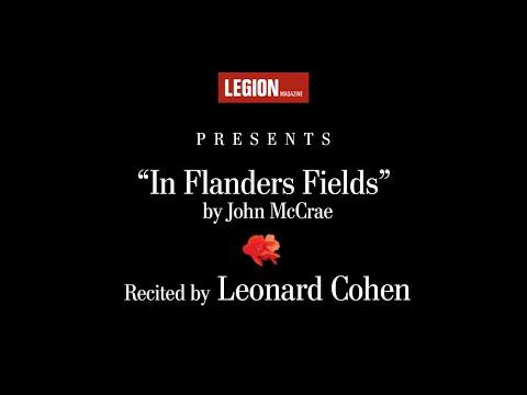"Leonard Cohen recites ""In Flanders Fields"" by John McCrae | Legion Magazine"