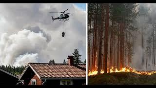 Sweden forest fires, Dalarna  , Gävleborg, Jämtland ,   Ljusdal