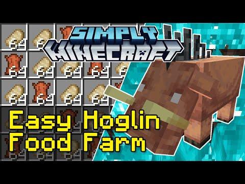 Easy Hoglin Food Farm Tutorial | Simply Minecraft (Java Edition 1.16)