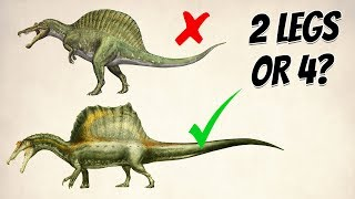 Did SPINOSAURUS walk on 4 legs?
