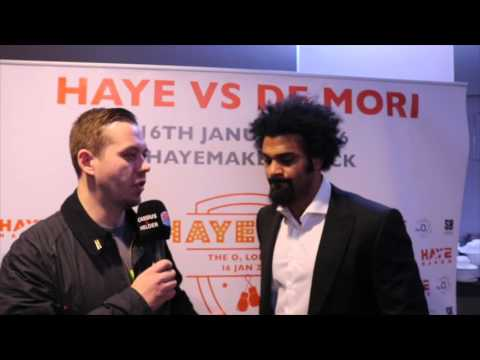 DAVID HAYE ON HIS RETURN, TYSON FURY WLADIMIR KLITSCHKO, DEONTAY WILDER & ANTHONY JOSHUA