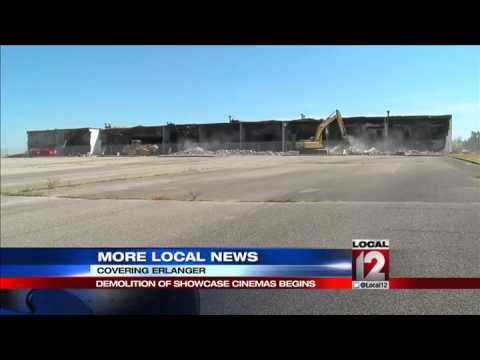 Demolition of Showcase Cinemas begins in Erlanger