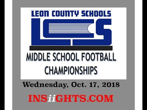 Season III INSiiGHTS Livestream:City of Tallahassee: Middle School Football Championships 2018 II