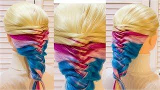 Простая прическа в школу с плетение на каждый день  Easy school hairstyle
