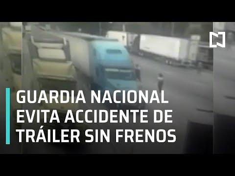 Guardia Nacional Evita Accidente De Tráiler Sin Frenos - Las Noticias