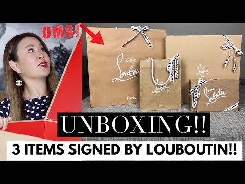 CHRISTIAN LOUBOUTIN UNBOXING/HAUL! SEE WHAT HE PERSONALLY DESIGNED FOR ME!