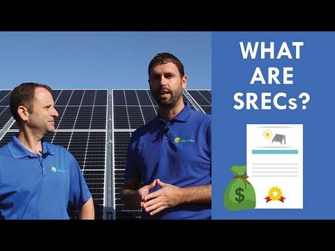 What are Solar Renewable Energy Credits (SRECs)?