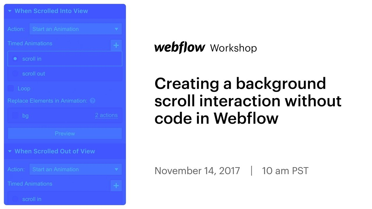 Creating a background scroll interaction with Interactions 2 0