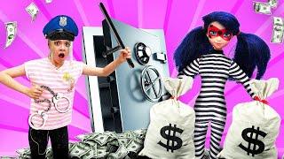 Как арестовать Леди Баг? —Продолжение истории куклы Леди Баг, которая стала злой! —Видео скуклами
