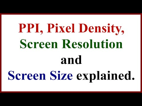 PPI, Pixel Density, Screen Resolution & Screen Size explained.