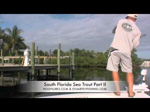 Stuart Florida Sea Trout Fishing Docks and Canals