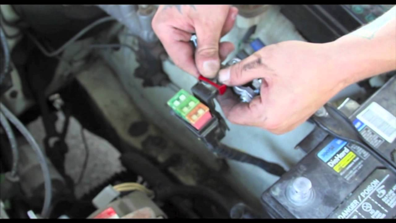 radiator  battery terminal replacement ae youtube