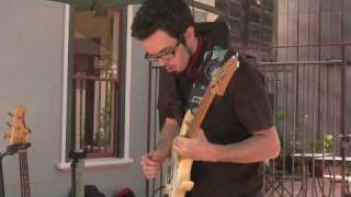Andrew Beal from AGT plays street music in Benicia, CA