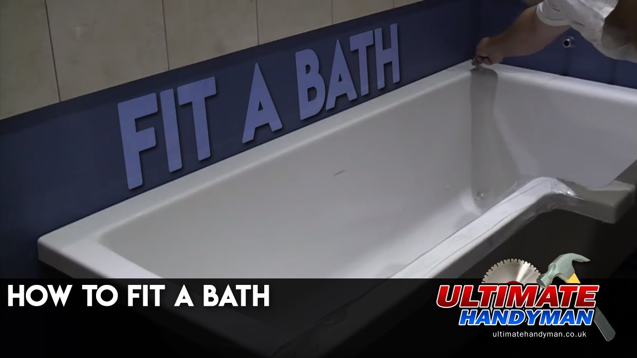 How to fit a bath - YouTube