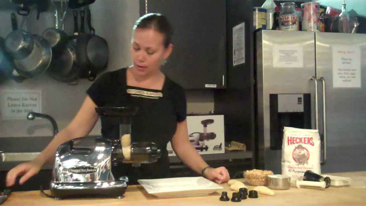 Making Pasta with the Omega 8006 Juicer at Kitchen Kapers