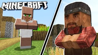 Minecraft Villagers vs REAL LIFE Villagers