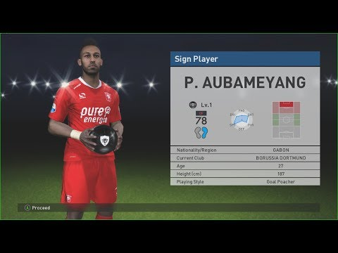 PES 2017 Aubameyang - finally  I won Gabon scout!