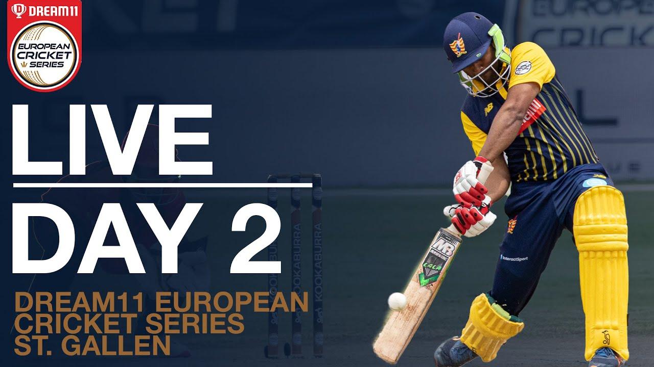 Dream11 European Cricket Series St. Gallen Day 2 | Dream11 European Cricket Series 2020