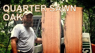 QUARTER SAWN OAK ON THE WOOD-MIZER