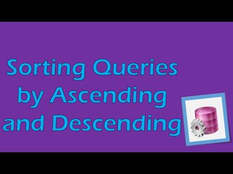 PL/SQL Tutorial 5 (Oracle): Sorting with Ascending/Descending Commands