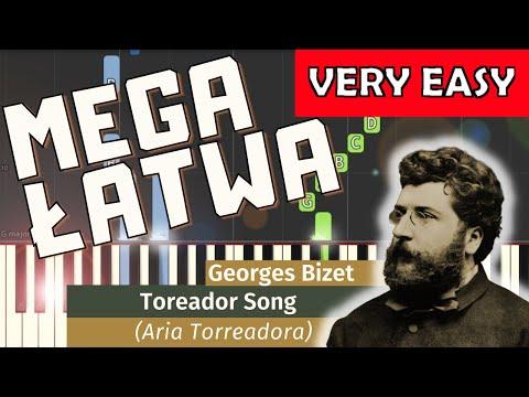 🎹 Pieśń Torreadora (opera Carmen, G. Bizet) - Piano Tutorial (MEGA ŁATWA wersja) (VERY EASY) 🎹