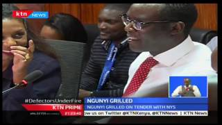 Mutahi Ngunyi grilled on tender with NYS, KTN Prime 9/20/2016