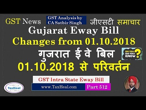 Gujarat Eway Bill Rules Changed W E F GST News - Online invoice wef