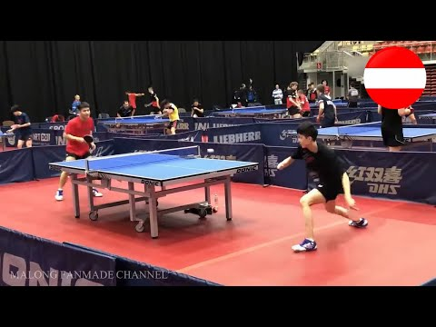 Lin Yun-Ju, Wang Chuqin, Lin Gaoyuan Training In Austrian Open 2019 #1