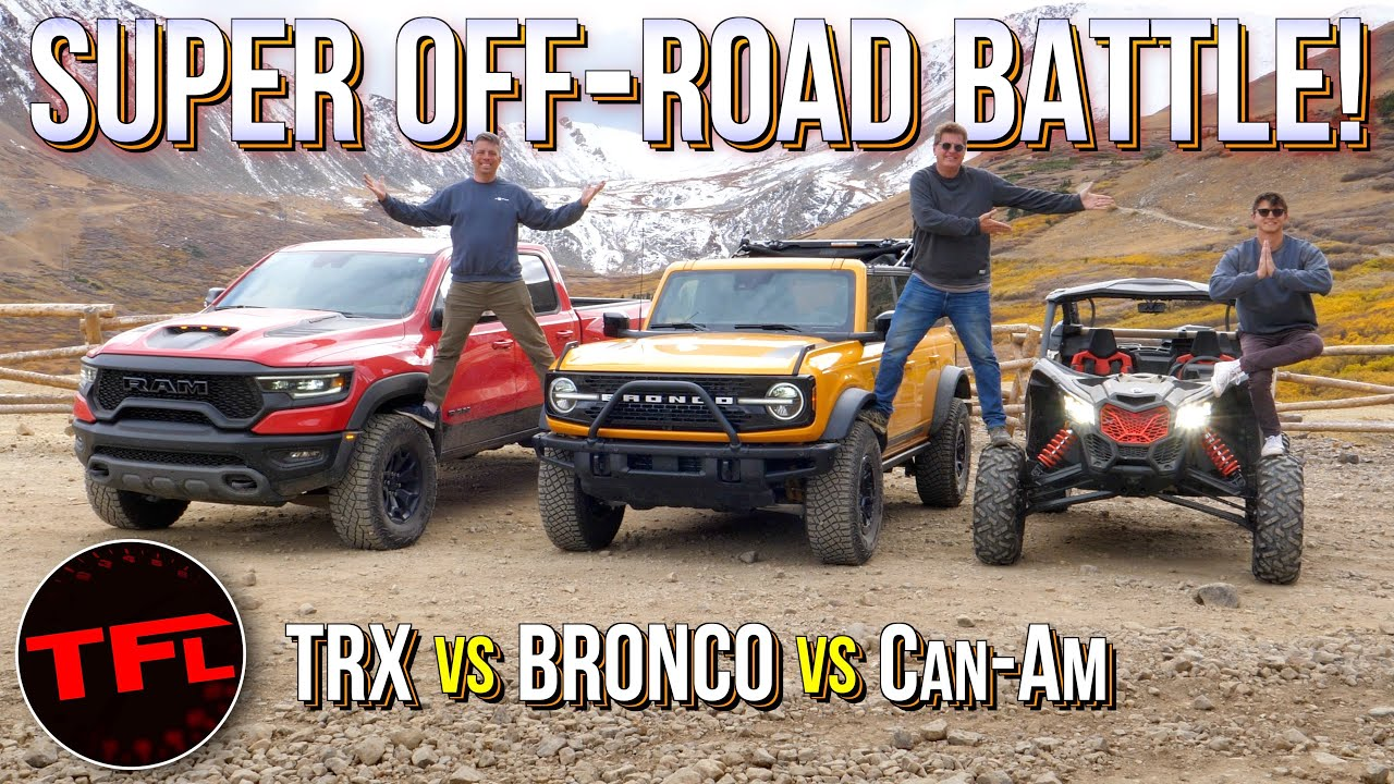 Download Ram TRX vs. Ford Bronco vs. Can-Am Maverick: One of These Is By Far the Most Fun & Capable!