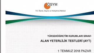 2018 AYT MATETATİK TESTİ SORU 39 ve 40
