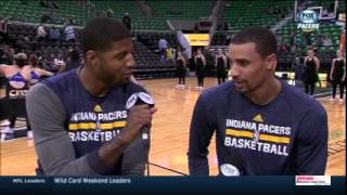 Paul george and george hill take over pacers pregame