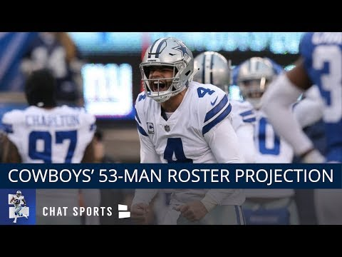 30a6e4ef0 Dallas Cowboys 53-Man Roster Projection: Way-Too-Early Edition - Difficult  Decisions At WR, OL, & DL - YouTube