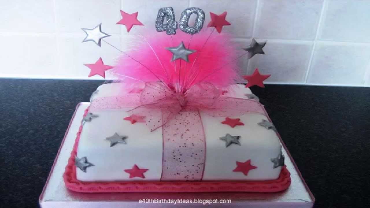40th Birthday Cakes
