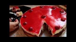 Delicious Cherry Cream Cake !!!!!