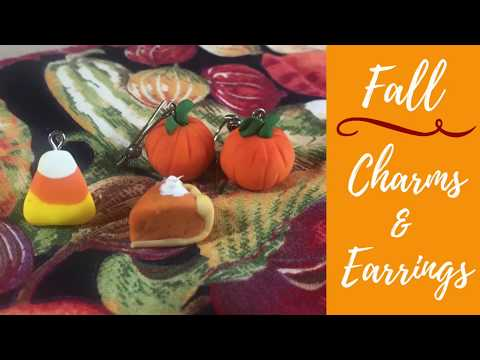 Fall Charms and Earrings Tutorial
