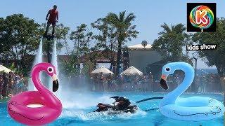 Fun and Sun Club Belek Наш первый день в отеле Флайборд шоу в бассейне