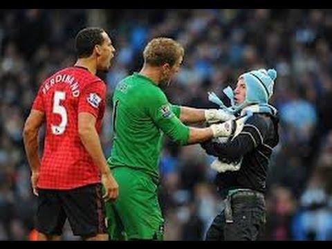 Joe Hart defends Rio Ferdinand from Fan    Manchester City vs Manchester United