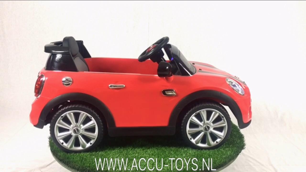 elektrische kinderauto mini cooper 6 volt met afstandsbediening youtube. Black Bedroom Furniture Sets. Home Design Ideas