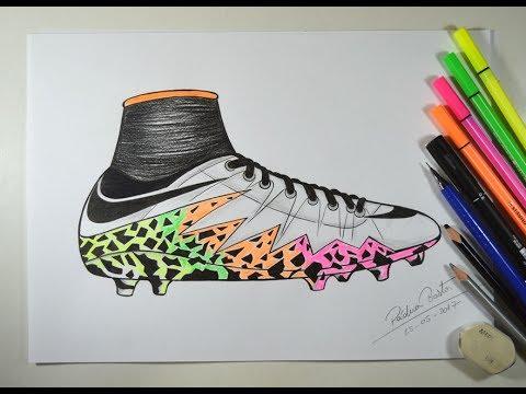 Como Desenhar Chuteira Da Nike Passo A Passo Youtube
