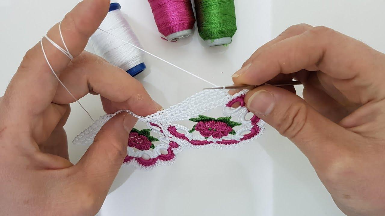 1 SAATTE YAPACAĞINIZ ÇOOK KOLAY HAVLU KENARI, HEM ŞIK HEM KOLAY🌠an incredibly beautiful lace pattern