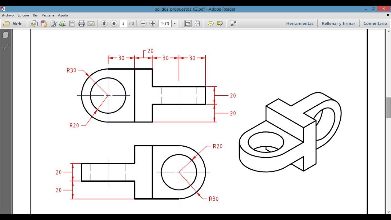 Dibujo mec nico en autocad 3d youtube for Plano de planta dibujo tecnico